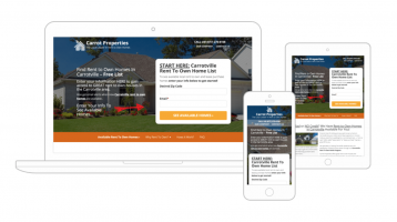 Best real estate website as seen by Carrot websites.